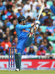 India's MS Dhoni during the ICC Cricket World Cup Warm up match at The Oval, London.