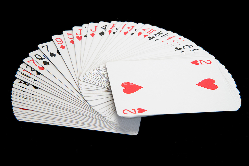 spread out deck of cards