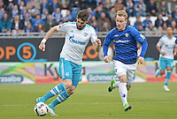 v.l. Daniel Caligiuri (Schalke), Alexander Milosevic<br /> Darmstadt, 16.04.2017, Fussball Bundesliga, SV Darmstadt 98 - FC Schalke 04 2:1<br /> <br /> Norway only