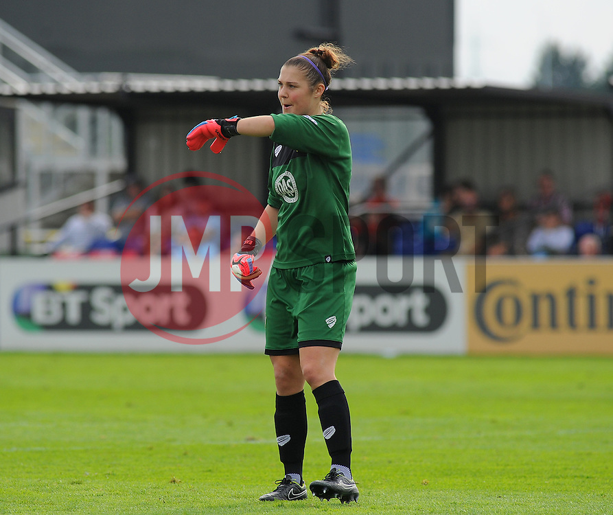Bristol Academy Womens' Mary Earps in action. - Photo mandatory by-line: Nizaam Jones- Mobile: 07583 387221 - 28/09/2014 - SPORT - Women's Football - Bristol - SGS Wise Campus - BAWFC v Man City Ladies - sport