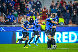 November 6, 2019, Milano, Italy: celebration goal atalanta bcduring Tournament round, group C, Atalanta vs Manchester City, Soccer Champions League Men Championship in Milano, Italy, November 06 2019 - LPS/Fabrizio Carabelli (Credit Image: © Fabrizio Carabelli/LPS via ZUMA Wire)
