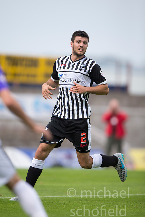 Elgin City's Matthew Cooper.  <br /> East Fife 2 v 1 Elgin City, Ladbrokes Scottish Football League Division Two game played 22/8/2015 at East Fife's home ground, Bayview Stadium.