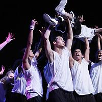 """Nederland, Amsterdam , 21 oktober 2009..Studio West presenteert 'BREAK A LEG' Dance Show Off. 21 oktober in Theater de Meervaart .Dit jaar vindt voor de eerste keer de Studio West 'Break A Leg' dance Show Off plaats in de Meervaart. Studio West biedt een geweldig danspodium aan voor dansgroepen in de vorm van een show battle. Groepen krijgen de kans om hun kunsten te vertonen aan een groot publiek. .Een vakjury kiest de winnaar. De winnaar zal een jaar lang de 'Best Break A Leg' titel dragen. .Daarnaast krijgt de winnende crew een heel verzorgd promotie filmpje en de kans om op een groot, bekend podium te staan. .New Cool Fresh Ink zijn de eerste winnaars de """"Break A Leg"""" dance competition in Theater de Meervaart. Het Break a Leg event van Studio West was een groot succes. 5 teams namen het tegen elkaar op in met hun eigen stijl, eigen charme en eigen originaliteit.Vakjury Vincent Vianen, Patricia Winklaar en Melissa Ellberger hebben na flink beraad besloten dat N.C.F.I. ( New Collection Fresh Ink ) de winnaars waren van het event,die voor de eerste keer georganiseerd was..Foto:Jean-Pierre Jans"""