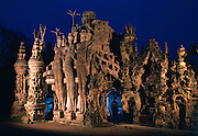 French postman, Ferdinand Cheval, born in 1836 was buried with his tools inside the Ideal Palace, Hauterives, France which took him 33 years to build. the idea came to him in a dream. It has been a monument since 1969.