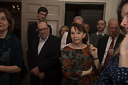 GILLIAN GREENWOOD, The launch of Fire Child by Sally Emerson. Hosted by Sally Emerson and Naim Attalah CBE. Dean St. London. 22 March 2017