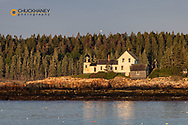 Winter Harbor Lighthouse in Winter Harbor, Maine, USA