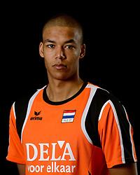 25-04-2013 VOLLEYBAL: NEDERLANDS MANNEN VOLLEYBALTEAM: ROTTERDAM<br /> Selectie Oranje mannen seizoen 2013-2014 / Nimir Abdelaziz <br /> ©2013-FotoHoogendoorn.nl
