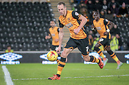 David Meyler (Hull City) about to take a shot during the Sky Bet Championship match between Hull City and Cardiff City at the KC Stadium, Kingston upon Hull, England on 13 January 2016. Photo by Mark P Doherty.