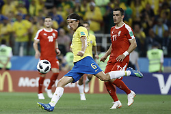 June 27, 2018 - Moscow, Russia - Philippe Luis during the 2018 FIFA World Cup Russia group E match between Serbia and Brazil at Spartak Stadium on June 27, 2018 in Moscow, Russia. (Credit Image: © Mehdi Taamallah/NurPhoto via ZUMA Press)