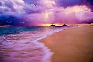 Kailua, Oahu, Hawaii, USA --- Sunrise on Lanikai Beach