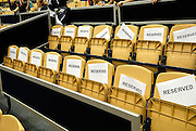 Rows of reserved seating. Sydney, Australia