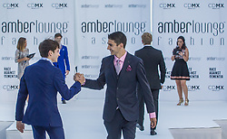 May 25, 2018 - Montecarlo, Monaco - Esteban Ocon of French and Force India Team driver presents a creation of Alessandra Vicedomini at the 15th Amber Lounge Charity Fashion Show 2018 in Monte Carlo, Monaco. (Credit Image: © Robert Szaniszlo/NurPhoto via ZUMA Press)