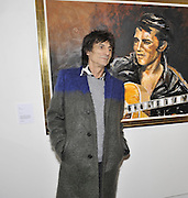 RONNIE WOOD, Faces, Time and Places. Symbolic Collection & Ronnie Wood private view, Cork St. London. 8 November 2011.<br /> <br /> <br />  , -DO NOT ARCHIVE-© Copyright Photograph by Dafydd Jones. 248 Clapham Rd. London SW9 0PZ. Tel 0207 820 0771. www.dafjones.com.