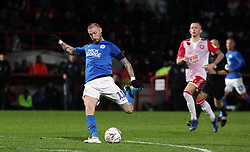 Marcus Maddison of Peterborough United shoots at goal against Stevenage - Mandatory by-line: Joe Dent/JMP - 09/11/2019 - FOOTBALL - Lamex Stadium - Stevenage, England - Stevenage v Peterborough United - Emirates FA Cup first round