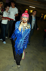 Fashion designer ZANDRA RHODES at Fashion Fringe - part of London fashion week held at the Selfridges Car Park, off Oxford Street, London on 22nd September 2004.<br /><br />NON EXCLUSIVE - WORLD RIGHTS