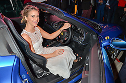 VOGUE WILLIAMS at the launch of the new Ferrari 488 Spider held at Watches of Switzerland, 155 Regent Street, London on 25th February 2016.