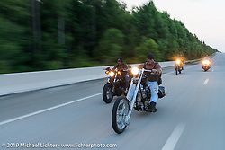 "The Horse Magazine publisher Ralph ""Hammer"" Janus on the ride from Camp Lejeune Marine base in NC to Suck, Bang, Blow in Murrells Inlet in SC on the way to the Smokeout 2015. USA. June 17, 2015.  Photography ©2015 Michael Lichter."