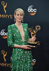 Sarah Paulson  im Press Room bei der Verleihung der 68. Primetime Emmy Awards in Los Angeles / 180916<br /> <br /> *** 68th Primetime Emmy Awards in Los Angeles, California on September 18th, 2016***