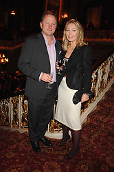 NICK JONES & KIRSTY YOUNG at a party to celebrate the launch of the 'Inde Mysterieuse' jewellery collection held at Lancaster House, London SW1 on 19th September 2007.<br /><br />NON EXCLUSIVE - WORLD RIGHTS