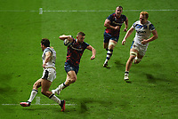 Rugby Union - 2020 / 2021 Gallagher Premiership - Bristol Bears vs Bath - Ashton Gate<br /> <br /> Bristol Bears' Andy Uren evades the tackle of Bath Rugby's Gabriel Hamer-Webb to score his sides third try.<br /> <br /> COLORSPORT
