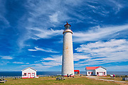 Ligthouse on the shore of the St. Lawrence River. Gaspesie Region<br />