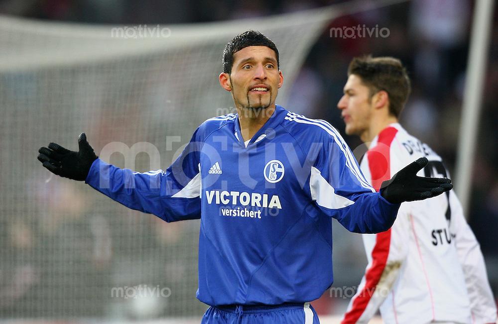 Fussball 1. Bundesliga 2005/2006 17. Spieltag VfB Stuttgart 2-0 FC Schalke 04 Kevin Kuranyi (FC S)