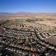 Suburban sprawl is evident in Las Vegas where houses continue to push out into the desert.
