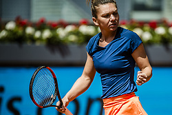 May 11, 2017 - Madrid, Madrid, Spain - SIMONA HALEP (ROU) celebrates a point against Coco Vandeweghe (USA) in the quarter-final of the 'Mutua Madrid Open' 2017. Halep won 6:1, 6:1 (Credit Image: © Matthias Oesterle via ZUMA Wire)
