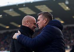 Aston Villa manager Dean Smith and Burnley manager Sean Dyche (L) - Mandatory by-line: Jack Phillips/JMP - 01/01/2020 - FOOTBALL - Turf Moor - Burnley, England - Burnley v Aston Villa - English Premier League