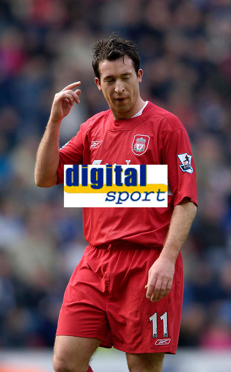 Photo: Jed Wee.<br />Wigan Athletic v Liverpool. The Barclays Premiership. 11/02/2006.<br />Robbie Fowler makes his first start for Liverpool in his second spell at the club.