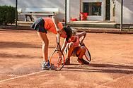 Martha Wojciechowski (SV Zehlendorfer Wespen 1911) und Michelle Hübner (Grunewald Tennis-Club), 4. Internationale Spandauer Jugendmeisterschaften 2018, Berlin, 17.08.2018, Foto: Claudio Gärtner