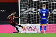 Goal 2-0 -Junior Stanislas (19) of AFC Bournemouth scores his second goal from the penalty spot during the EFL Sky Bet Championship match between Bournemouth and Nottingham Forest at the Vitality Stadium, Bournemouth, England on 24 November 2020.