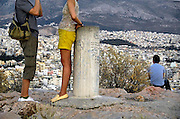 Griekenland, Athene, 5-7-2008Uitzicht op de stad  bij zonsondergang. Landschap. Foto: Flip Franssen