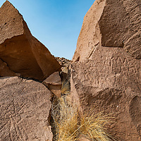 Petroglyphs are a sign of early Native American presence in the Owens Valley.