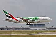 A6-EOK Emirates Airways Airbus A380-800 at Malpensa (MXP / LIMC), Milan, Italy