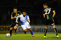 Jake Gray of Yeovil Town competes with Alex Jakubiak of Bristol Rovers - Mandatory by-line: Nizaam Jones/JMP - 09/10/2018 - FOOTBALL - Memorial Stadium - <br /> Bristol, England - Bristol Rovers v Yeovil Town - Checkatrade Trophy