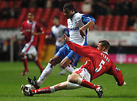 Credit: Back Page Images. Charlton Athletic v Crystal Palace, Carling Cup, 27/10/2004. Tom Soares (Crystal Palace)  Chris Perry (Charlton)
