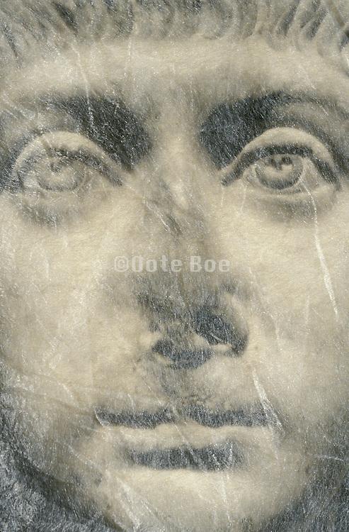 face of Greek sculpture