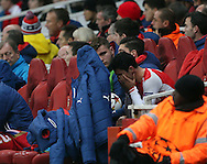 Arsenal's Mikel Arteta looks on dejected after getting injured again<br /> <br /> UEFA Champions League- Arsenal vs Borussia Dortmund- Emirates Stadium - England - 26th November 2014 - Picture David Klein/Sportimage