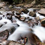 River running through Hontanikawa Keikoku in Yamanashi Prefecture, Japan. 本谷川渓谷, 山梨県