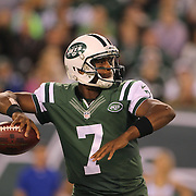 New York Jets Quarterback Geno Smith, in action during the New York Jets Vs Chicago Bears, NFL regular season game at MetLife Stadium, East Rutherford, NJ, USA. 22nd September 2014. Photo Tim Clayton for the New York Times
