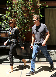 June 14, 2018 - New York, New York, United States - Model Cindy Crawford leaves a Soho hotel with her husband Rande Gerber and children Kaia Gerber and Presley Gerber on June 14 2018 in New York City  (Credit Image: © John Sheene/Ace Pictures via ZUMA Press)