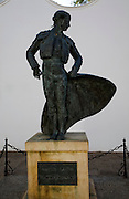 Statue of famous matador Cayetano Ordonez near the bullring in Ronda, Spain
