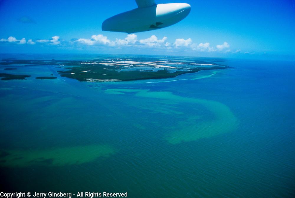 Approaching Garden Key via seaplane - Dry Tortugas National Park, FL.