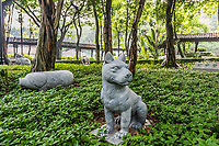 Chinese Zodiac garden statues Kowloon Walled City Park in Hong Kong