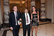 GEORDIE GRAIG; SIR V.S. NAIPUAL; ELLA KRASNER, Ella Krasner and Pablo Ganguli host a Liberatum dinner in honour of Sir V.S.Naipaul. The Landau at the Langham. London. 23 November 2010. -DO NOT ARCHIVE-© Copyright Photograph by Dafydd Jones. 248 Clapham Rd. London SW9 0PZ. Tel 0207 820 0771. www.dafjones.com.