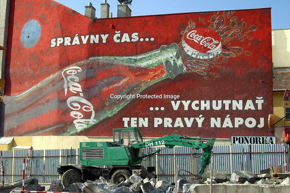 coca cola advertisment in Bratislava, Slovakia