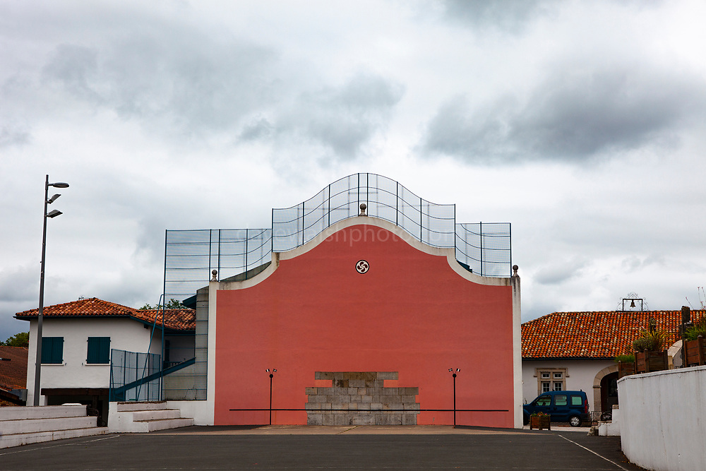 Pelote fronton - court for playing the Basque sort of Pelote, Arcangues, Pyrénées-Atlantiques, France