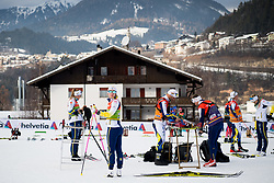 January 6, 2018 - Val Di Fiemme, ITALY - 180106 Evelina Settlin of Sweden during warm-up ahead of women's 10km mass start classic technique during Tour de Ski on January 6, 2018 in Val di Fiemme..Photo: Jon Olav Nesvold / BILDBYRN / kod JE / 160122 (Credit Image: © Jon Olav Nesvold/Bildbyran via ZUMA Wire)