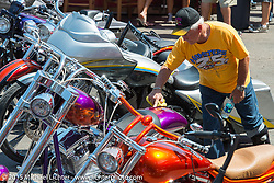 The annual Perewitz Paint Show during the 75th Annual Sturgis Black Hills Motorcycle Rally.  SD, USA.  August 5, 2015.  Photography ©2015 Michael Lichter.